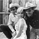 Clark Gable (Gay Langland), Marilyn Monroe (Roslyn Taber), Montgomery Clift (Perce Howland)