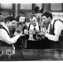 James Stewart (George Bailey), Thomas Mitchell (Uncle Billy), Mary Treen (Cousin Tilly), Charles Williams (Cousin Eustace)