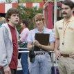 Jesse Eisenberg (James Brennan), Bill Hader (Bobby), Kristen Wiig (Paulette)