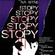 Plagát k filmu: Stopy na Sitne (1968). Zobrazenie: koláž, detail ľudskej tváre, stekajúca krv.