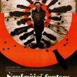 Plagát k filmu: Šepkajúci fantóm (1975). Zobrazenie: koláž, červenohnedý strelecký terč s motívom ľuských postáv, v strede srdce.