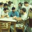 William Duell (Sefelt), Danny DeVito (Martini), Vincent Schiavelli (Fredrickson), Brad Dourif (Billy Bibbit), Jack Nicholson (R.P. McMurphy), Delos V. Smith Jr. (Scanlon)