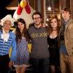 Josh Schwartz, Victoria Justice (Wren), Osric Chau (Peng), Thomas Mann (Roosevelt), Jane Levy (April)