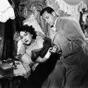 Gloria Swanson (Norma Desmond), William Holden (Joe Gillis)