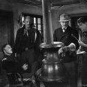 John Wayne (Capt. Nathan Cutting Brittles), Arthur Shields (Dr. O'Laughlin), Harry Woods (Karl Rynders)