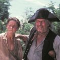 Charlton Heston (Long John Silver), Christian Bale (Jim Hawkins)