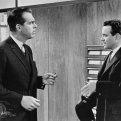 Jack Lemmon (C.C. Baxter), Fred MacMurray (Jeff D. Sheldrake)