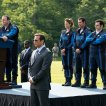Kevin James (President Will Cooper), Michelle Monaghan (Violet), Adam Sandler (Brenner), Josh Gad (Ludlow Lamonsoff), Peter Dinklage (Eddie)