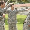 Geoff Stults (Sgt. Pete Hill), Parker Young (Pvt. Randy Hill), Chris Lowell (Cpl. Derrick Hill)