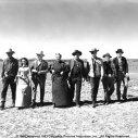 James Stewart (Will Lockhart), Jack Elam, Donald Crisp, Wallace Ford, Arthur Kennedy, Aline MacMahon, Alex Nicol, Cathy O'Donnell