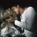 Burt Lancaster (Bannock Marshal Jared Maddox), Sheree North (Laura Shelby)